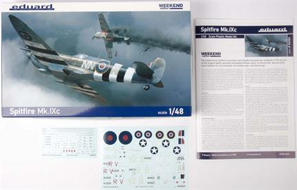 Eduards Spitfire Mk.IXe 1/48 is a scale plastic kit of RAF WW2 fighter, released in ProfiPACK line