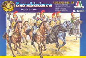 Italeri 1/72 French Heavy Cavalry Carabiners Napoleonic Plastic Figures 6003Contains 17 mounted figuresPaints are required to complete the figures (not included)