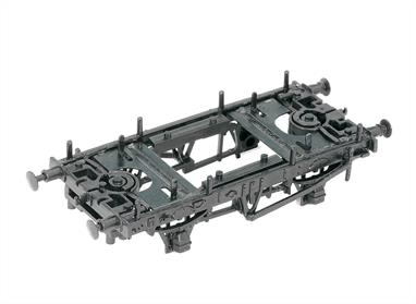 These Underframe kits give a choice of a 9ft wooden or 10ft steel type Sole Bars and include: • Actual working axlebox springs  • Sprung metal buffers • Choice of 9 foot (wooden) or 10 foot (steel) solebars • Pin-point axles and bearings for maximum length trains  • Both Peco Simplex and Peco Anita tension lock couplings.Romford wheels and bearings can be used to complete the model.