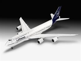 Revell 03891 1/144 Scale Boeing 747-8 Lufthansa Airliner - New liveryLength 525mm   Number of Parts 172   Wingspan 476mm