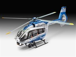 Revell 1/32 Airbus H145 Police Surveillance Helicopter kit 04980Length 363mm  Number of Parts 196 Rotor Diameter 343mmGlue and paints are required to assemble and complete the model (not included)