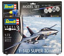 Revell 1/72 F-14D Super Tomcat Model Set 63960Length 260mm	Number of parts 111	Wingspan 268mmComes with glue and paints to assemble and complete the model.
