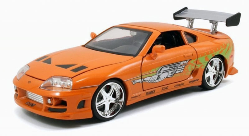 jadatoys the fast and the furious brian 39 s toyota supra 1 24 97168. Black Bedroom Furniture Sets. Home Design Ideas