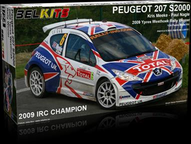 Belkits BEL-001 1/24th Peugeot 207 S2000 Rally CarNicely detailed kit of the Peugeot 207 S2000 rally car as driven by Chris Meeke.
