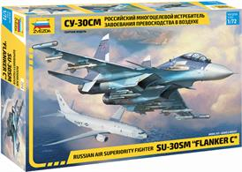 Zvezda 7314 1/72nd Sukhoi SU-30 SM Flanker C Air Superiorty Fighter KitNumber of Parts 385   Length 314mm