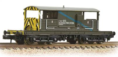 This model is painted in the BR engineers department olive green livery.