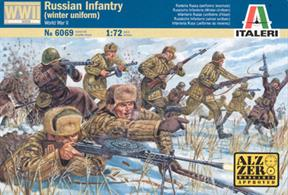 Italeri 1/72 USSR Infantry Winter WW2 606948 figures per box in 16 different poses.