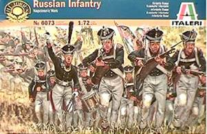Italeri 1/72 Russian Infantry Napoleonic War 607350 figures per box in 15 different poses.