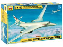 Zvezda 7002 1/144th Tupolev Supersonic Bomber KitNumber of Parts 153   Length 375mm