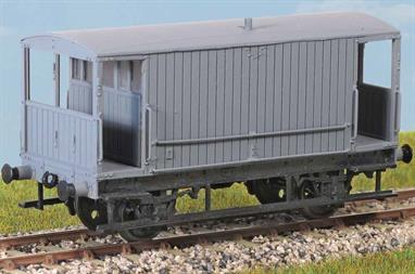 A well designed plastic kit to build a model of the last Midland Railway design goods brake van with plain planked sides. This design was adopted as the first LMS standard design, though soon after the grouping was replaced with a revised version with side lookout duckets added, featured in kit PC49.The Midland Railway vans remained in service throughout the LMS period and into British Railways ownership until the mid-1950s, with some examples lasting longer as brake/mess vans with the engineering departments.Glue and paints are required to assemble and complete the model (not included)