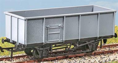 (Rebuilt 1977) This vehicle represents the end of the evolution of the classic British coal wagon. Introduced in 1977, using spare chassis, 947 were built and used chiefly for industrial coal traffic.These finely moulded plastic wagon kits come complete with pin point axle wheels and bearings.Glue and paints are required to assemble and complete the model (not included)