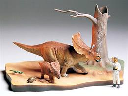 Chasmosaurus Dinosaur Diorama SetGlue and paints are required to assemble and complete the figures (not included)