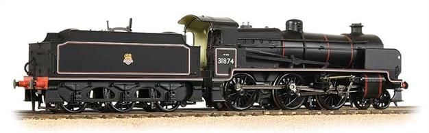 Bachmann Branchline 32-165 OO Gauge BR Southern N Class 2-6-0 31874 BR Lined Black Early EmblemA nicely detailed model of the Maunsell designed N class 2-6-0 mogul mixed traffic locomotives, introduced by the South Eastern & Chatham Railway during WW1, with most being built during the early years of the Southern Railway.DCC Ready. 6-pin decoder required for DCC operation.
