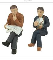 Bachmann 47-405 O Gauge Sitting Passengers Pack BPack of 2 seated passenger figures