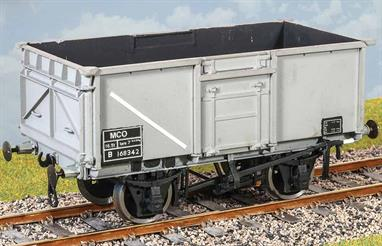 A high quality plastic model kit from Parkside to build a model of the standard BR 16-ton open mineral wagon. Over 200,000 of these wagons were built during the 1950s.There were many variations in detail just on the basic diagram 1/108 wagons, this kit is supplied with parts to build a model of a wagon with welded side and end doors and the basic Morton brake. Several variants can be constructed using the same bodyshell and frames with alternative brake fittings (not supplied, we recommend always keeping a box of the spare unused parts from the sprues when building kits as these can often these supply the parts for other conversions.)Supplied with metal wheels and 3 link couplings.