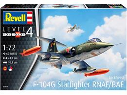 Revell 03879 1/72nd F-104G Starfighter Jet Fighter KitNumber of Parts 60   Length 244mm  Height 55mm  Wingspan 109mm