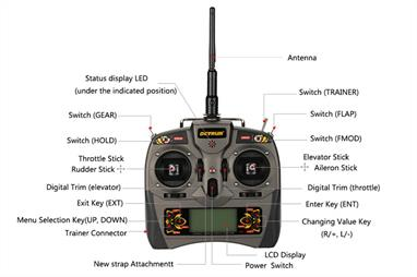 For those new to the hobby a 6-Channel radio is a perfect starting point for most beginner and intermediate airplanes. With the stability and reliability-supported technology that the Detrum GAVIN-6C transmitter offers, you can learn and grow in the hobby with the confidence and support you deserve.