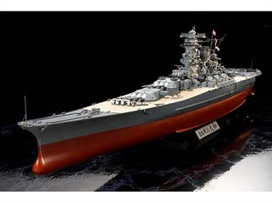 Tamiya 1/350 IJN Yamato Battleship All New Moulds Kit 78025All-new 1/350 scale model of the Japanese Battleship Yamato as she appeared in her last and final sortie to Okinawa. The original was a motorized kit that was released in 1979 and followed up by a non-motorized version in 2005. The latest model version is based on the latest research information that Tamiya's model makers have been able to find. Items such as the hull and superstructure have been given new details based on new information gathered and new information discovered about the Yamato.