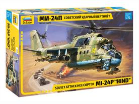 Zvezda 7315 1/72nd Mil Mi-24p Hind F Attack Helicopter KitNumber of Parts 267    Length 298mm