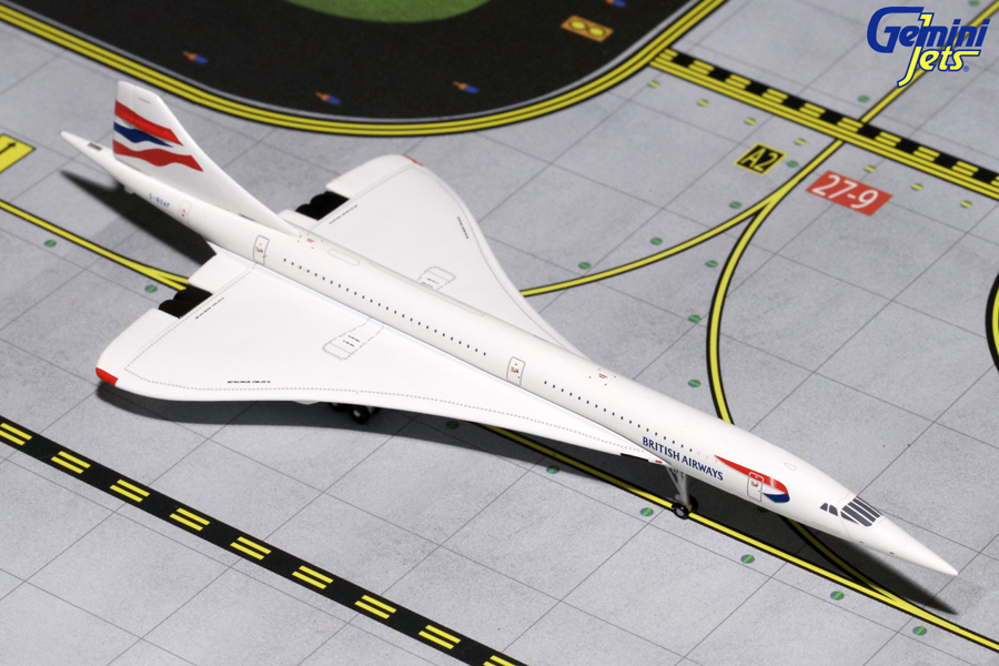 Gemini Jets 1/400 British Concorde G-BOAF as at Filton Bristol GJBAW1667<BR>On 7th February 2017, Aerospace Bristol welcomed Concorde 216 – the last Concorde to be built and the last to fly – to her new purpose-built home.  The complex move was conducted with the greatest care by engineers from British Airways and Airbus, who towed the iconic aircraft across Filton Airfield and up a ramp into the new purpose-built hangar at Aerospace Bristol.