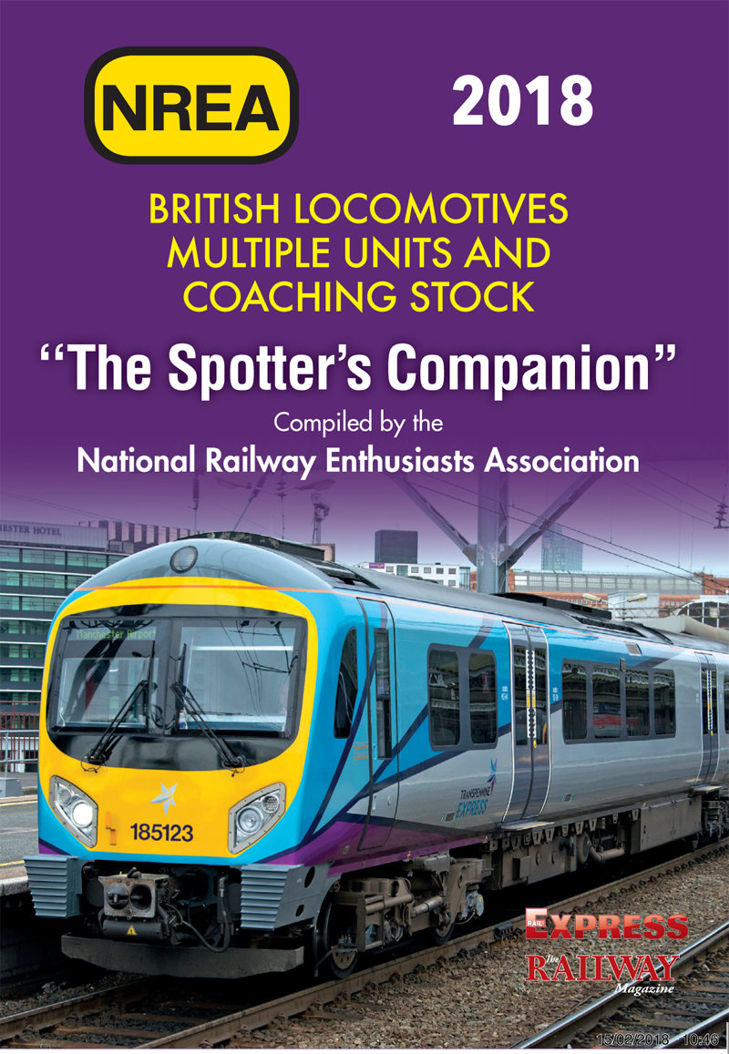 <p>The NREA Spotters Companion is a thin, A6 size book which can be easily and comfortably carried in a jacket pocket while still containing a full listing of all locomotives, coaches and unit trains registered with Network Rail in early 2018.<br><b>A6 format softback. Recommended as a travelling companion.</b></p>