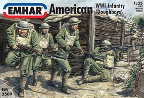 Emhar 1/35 American WW1 Infantry 'Doughboys' EM3509Pack conatins 12 unpainted figuresGlue and paints are required