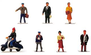 Pack of city or town people figures.