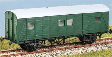 This kit builds the basic SECR design, but has additional parts to model the SR built batches of the 1930s with side ventilators and chalk boards. These vehicles were used widely and examples still survive in departmental use. These finely moulded plastic wagon kits come complete with pin point axle wheels and bearings.Additional parts to enable the vehicle to be modelled incorporating modifications made to the prototypes during their working life are included where appropriate.Glue and paints are required to assemble and complete the model (not included)
