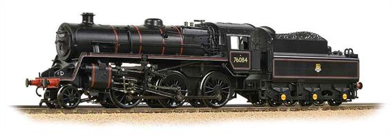 A highly detailed model of the British Railways standard class 4MT 2-6-0 mogul locomotives.The 4MT mogul perhaps embodies the concept of accessibility best of all the standard classes, the smaller driving wheels allowing the footplate to pass clear above them, not hiding any of the machinery.The Bachmann model features a diecast chassis, powerful motor and a wealth of detail parts, bringing the exposed engines to life.Era 4. DCC Ready 8 pin decoder required for DCC operation.