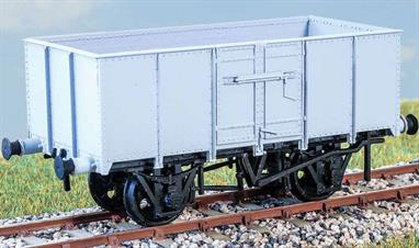 Finely detailed and easy to build kit of the unusual French type 16-ton mineral wagon. Built to rehabilitate the French railways after liberation, these wagons were fitted with cupboard type doors in place of the common British drop door. These wagons were returned to Britain in the 1950's and refurbished for further service with BR.