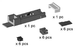 Dapol N Dapol Easi-Fit NEM Coupling Mount Fitting Kit 2A-000-009Coupler fitting kit to convert N gauge wagons to NEM coupler pockets to allow the use of NEM fitting couplers like the Dapol Easi-Shunt magnetic knuckle coupler.Contains 1 multi-purpose coupler mounting gauge and 6 coupler pockets. Extra coupler pockets are available in packs of 20.