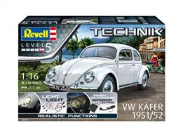 Revell 1/16 Technik VW Kafer Beetle 1951/52 Kit 00450Number of Parts 218