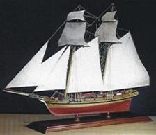 Kit includes a pre built resin hull, brass and wood parts