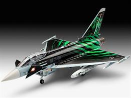 Revell 03884 Eurofighter Typhoon Ghost TigerLength 222mm  Height 74mm  Wingspan 155mm Number of Parts 85