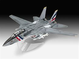 Revell 1/100 F-14D Super Tomcat Kit 03950Length 191mm Number of Parts 30 Wingspan 195mmGlue and paints are required to assemble and complete the model (not included)