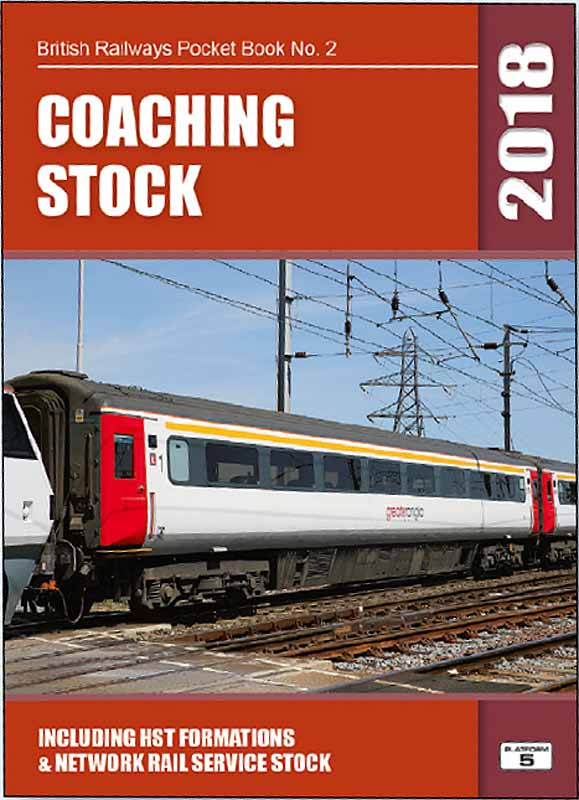 <b>Platform 5 British Railways Locomotives 2018 Pocket Book BRPB2 18</b><br>A complete listing of locomotive hauled and HST passenger coaches and parcels vans registered with Network Rail in autumn 2017. The