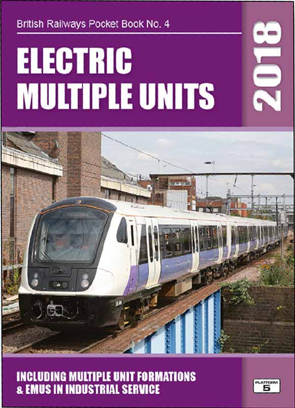 <strong>Platform 5 BRPB4 British Railways Electric Multiple Units 2018 Pocket Book<br />Includes the new Great Western & East Coast class 800 IEP D/EMU units<br /></strong>A complete listing of EMU and hybrid power trains registered with Network Rail in autumn 2017.<br /><br />