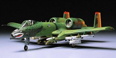 Tamiya 1/48 Fairchild Republic A-10A Thunderbolt II Ground Attack Aircraft 61028Period of Service: 1972 - present; served in Gulf War. Twin turbofan engine, twin tail, single seat attack aircraft.