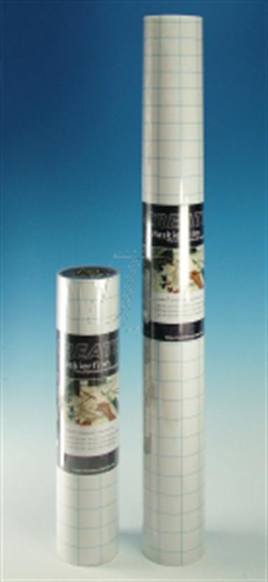 Self adhering masking film can be cut directly on your work surface.