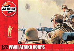 Airfix 1/72 Afrika Corps Unpainted plastic Figures A01711Box contains 48 parts