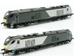 Dapol OO Chiltern Trains 68014 DRS Class 68 Bo-Bo Diesel Locomotive Chiltern Livery 4D-022-004DCC Ready. 6 function 21 pin decoder required to work all lighting functions.