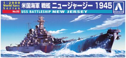AOSHIMA 1/2000th MINI BATTLESHIP KIT USS NEW JERSEY• High quality Japanese made plastic kits• Require construction and painting• Unique models not found with other manufacturers!