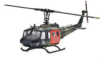 Revell 1/72 Bell UH-1D Luftwaffe 04444Detailed fuselage with engravings - Movable main rotor - Interior with instrument panel and stretchers - Power plant with gear unit - Decals for 2 army versions.No. of parts 115, Length 175mm , Rotor dia 199mmGlue and paints are required