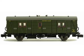 Dapol N Gauge 2P-012-203 Southern Railway Maunsell Design Luggage Brake Van 422 SR Lined Green Livery