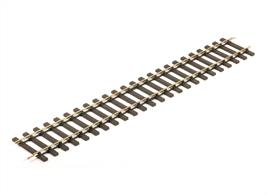 Produced to the familiar Setrack format with rail joiners pre-attached the bull-head nickel-silver rail. The Setrack sections are produced with the same bull-head nickel as is used in the Streamline range of flexible track and points.Length 400mm 15.5in.