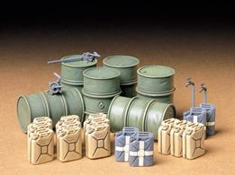 Tamiya 35186 1/35 Scale German Fuel Drums WW2 Accessory SetUseful accessories to compliment your model or diorama