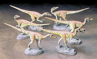 Dinosaurs Six Velociraptors Glue and paints are required to assemble and complete the figures (not included)