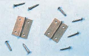 a pack of 4 25mm Brass Hinges with Pins