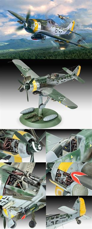 Revell 1/32 Focke Wulf FW190 F8 German WW2 Fighter kit 04869Length 282mm Number of Parts 230 Wingspan 327mmGlue and paints are required