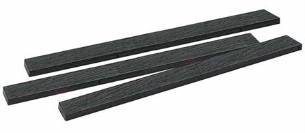 20 175mm lengths of wood grain effect sleepering for track and turnout construction.